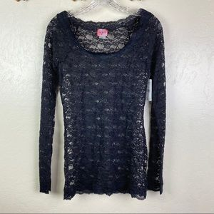 NWT INTIMATELY FREE PEOPLE | BLACK LACE TOP SZ L